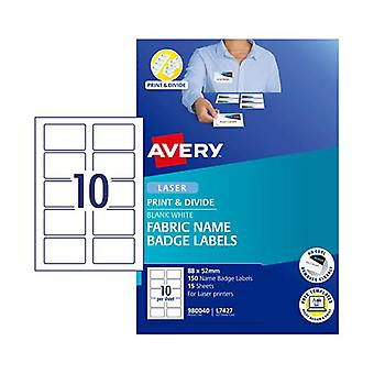 Avery Name Badge L7427 10 Up Pack Of 15