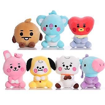 7db Kpop Bts Plüss játék Aranyos soft doll töltött alak rajongóknak