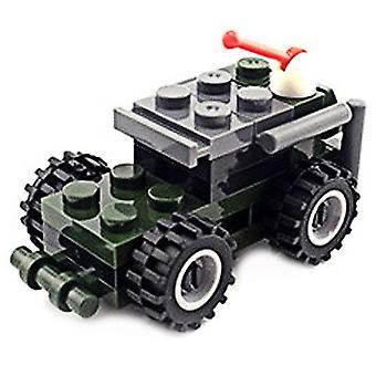 Diy mini thunder scout auto tyyli sotilaallinen rakennus lelu rakennuspalikat lapsille taaperoille
