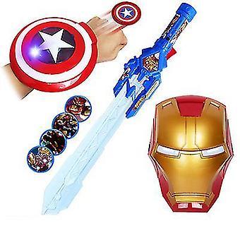 Laser Sword 4 Mask Musik Elektrisk Blinkande Svärd Vapen (Stlye1)