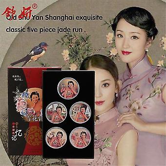 Shuyan 5pcs gave sæt æterisk olie anti aldrende hud kridtning ansigtscreme