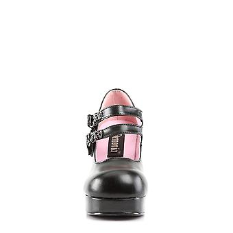 Demonia Women's Zapatos GOTHIKA-09 Blk Cuero Vegano