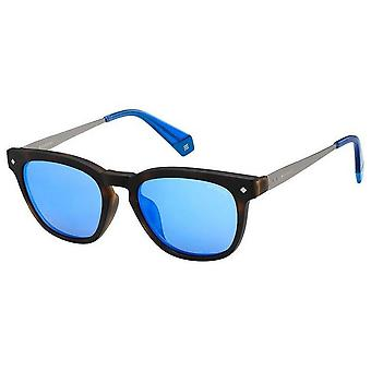 Polaroid Square Sonnenbrille - Havanna Braun/Blau
