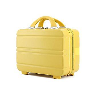 Gele reizen handbagage cosmetische tas kleine cosmetische handtas mini koffer (33cm * 15cm * 24cm)