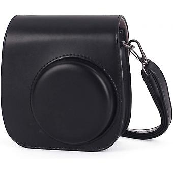 Camera Case For Fujifilm Instax Mini 11 Pu Leather Bag With Pocket Shoulder Strap