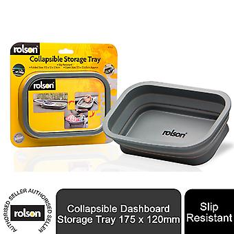 Rolson Collapsible Dashboard Storage Tray 175 x 120mm - Slip Resistant