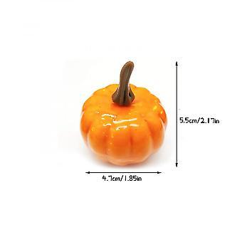 Artificial Pumpkin, 6pcs Mini Fake Pumpkins, Fall Vegetables Fruit Decoration For Halloween Thanksgiving Christmas Party (orange)