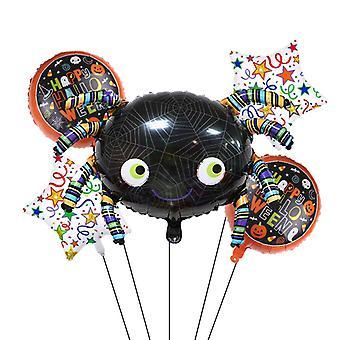 Halloween Pumpkin Ghost Decor Foil Balloons Spider Balloons Inflatable Toys For Kids Bat Halloween Party Supplies