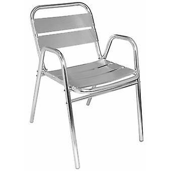 Lily Aluminium Stacking Patio Chairs Set Of 4