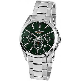 Jacques Lemans Silver Stainless Steel 1-1945F Reloj de hombre