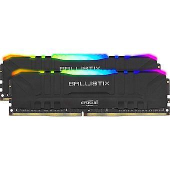 Hard drives 32gb ballistix rgb ddr4 3200 mhz udimm gaming desktop memory kit 2 x 16gb  black