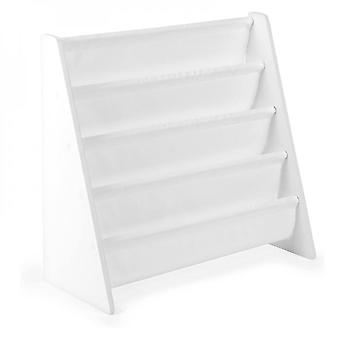 Childrens Fun White Wooden Bookshelf  Landing Primary School Students Newspapers And Magazines Short Bookcase