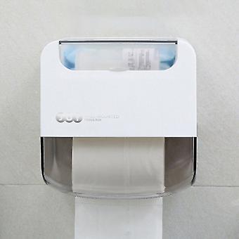 Vedenpitävä WC-paperiteline, seinään kiinnitettävä kudoslaatikko laatikolla, muovi, monitoiminen, kylpyhuoneeseen