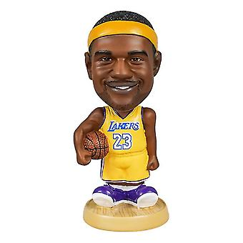 Venalisa Lebron James Action Figure Statue Bobblehead Basketball Doll Décoration