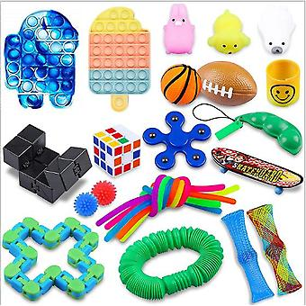 Sensory Decompression Toy Set Puzzle Diy Combination Toys -23