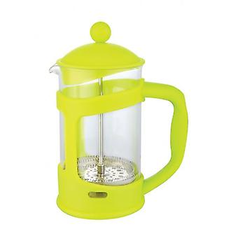 Lime Green - 6 Cup Glass Coffee Maker Plunger French Press Cafetiere Pot Jug