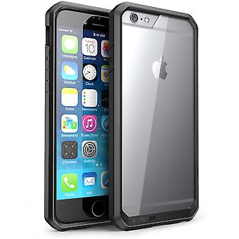 "SUPCASE Apple iPhone 6 Plus 5.5"" Case - Unicorn Beetle Series Premium Hybrid Bumper Case - Clear Black Black"