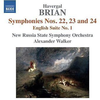 Havergal Brian - Havergal Brian: Symphonies Nos. 22, 23 and 24; English Suite No. 1 [CD] USA import