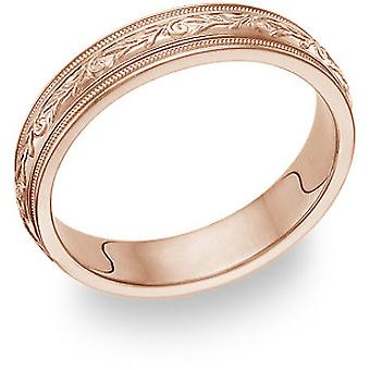 Paisley Wedding Band in 18K Rose Gold