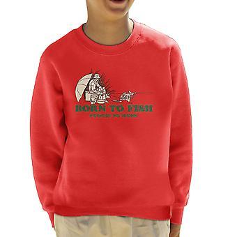 Born To Fish Forced To Work Kid's Sweatshirt