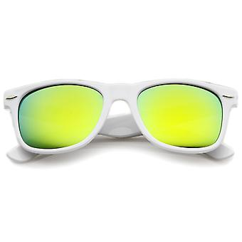 Hipster Fashion Flash Color Mirror Lens Horn Rimmed Style Sunglasses