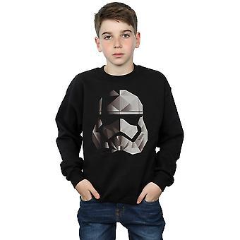 Star Wars Boys The Last Jedi Stormtrooper Mono Cubist Helmet Sweatshirt