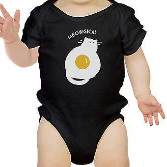 Meowgical Cat Black Infant Bodysuit Baby First Halloween Costumes