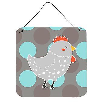 Carolines Schätze BB6778DS66 grauen Huhn Wand oder Tür hängen Drucke