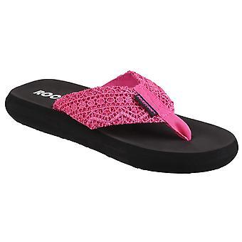 Raketti koira naisten valokeilassa Lima slip sandaali vaaleanpunainen