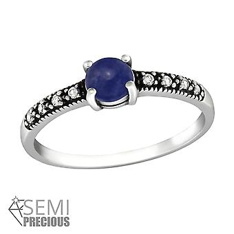 Solitaire - 925 Sterling Silver Jewelled Rings - W36420X