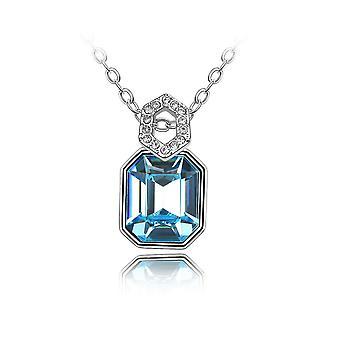 Mirror pendant adorned with Swarovski Blue Crystal 1472