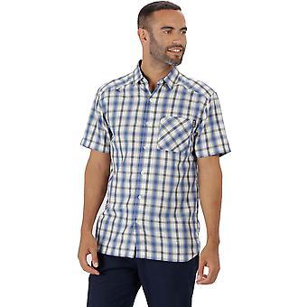 Regata Mens Mindano III rápida secagem botão camisa de manga curta