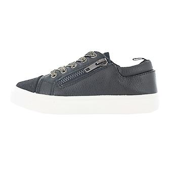 Girls Buckle My Shoe Glitter Black Low Top Fashion Trainer Shoe Various Sizes