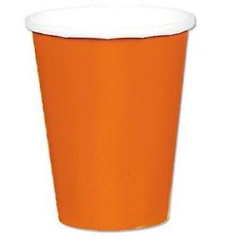 Orange Pappbecher 9