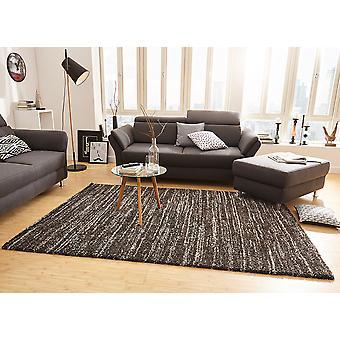 Délice d'épais tapis gris noir tacheté de conception