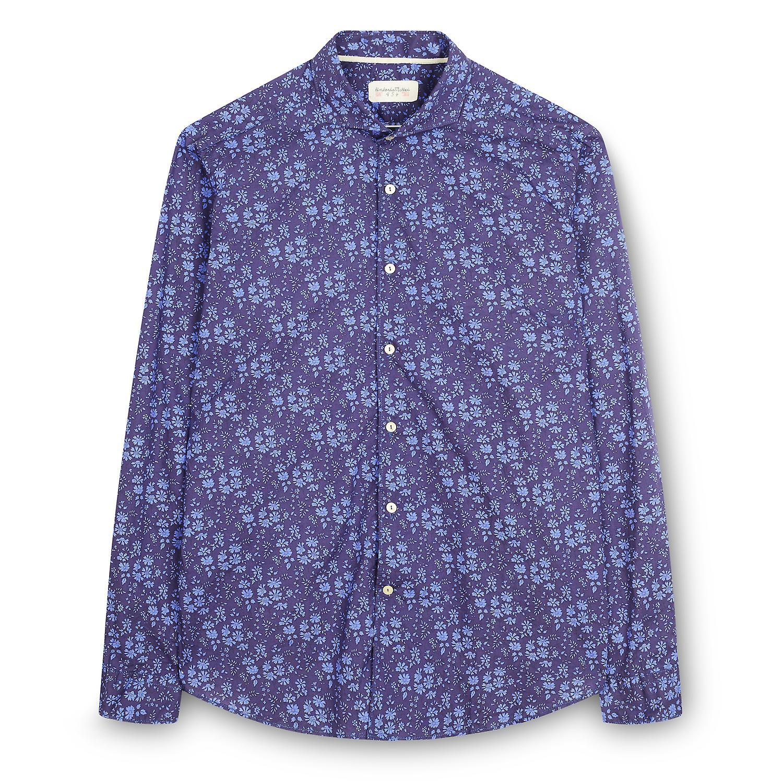 Fabio Giovanni Bovino Shirt - Mens Italian Floral Casual Shirt - Long Sleeve