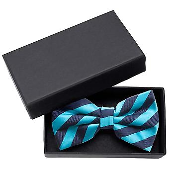Fly turquoise structure & glossy dark blue noble striped loop Fabio Farini
