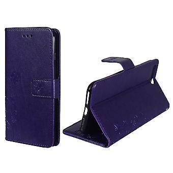 保護カバー携帯電話アップル iPhone 7 プラス紫の花