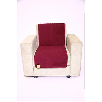 Seat saver wool of bordeaux 150 cm x 50 cm
