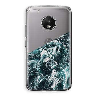 Motorola Moto G5 boîtier Transparent (doux) - Ocean Wave