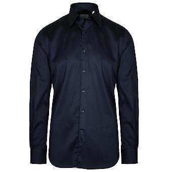 CC Collection Corneliani Navy Blue Long Sleeve Shirt