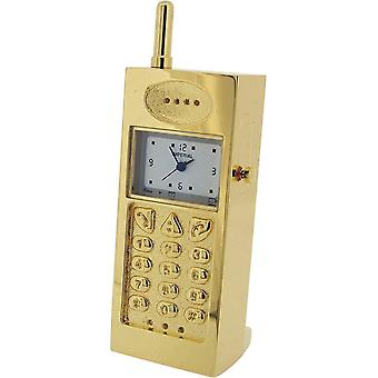 Gift Time Products Mobile Phone Miniature Clock - Gold