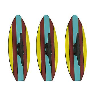 Colorful Nautical Cleat Surfboard Wall Hook Set