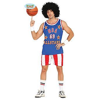 Cool de basket-ball joueur Carnaval Carnaval parti costume mens bleu rouge