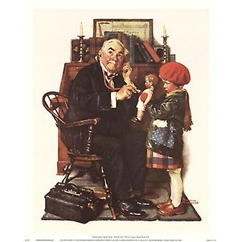 Doctor and the Doll Poster Print by Norman Rockwell (12 x 15)