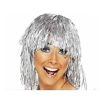 Bnov Tinsel Wig Silver