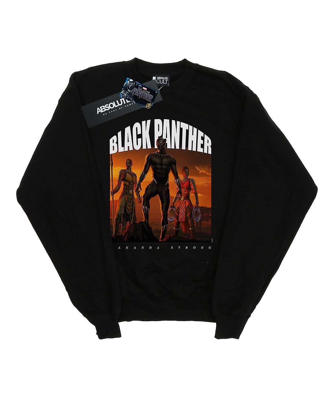 Marvel Girls Black Panther Wakanda Strong Sweatshirt