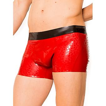 Skin Two Clothing Men's Shorts Printed Shell Pattern in Rubber Black & Red