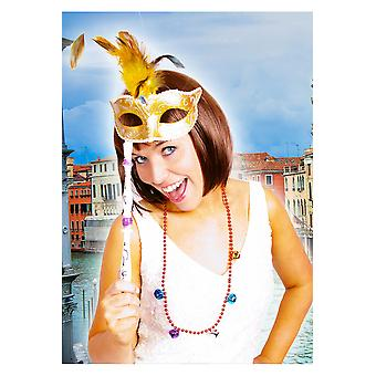 Máscara Veneciana de máscaras oro