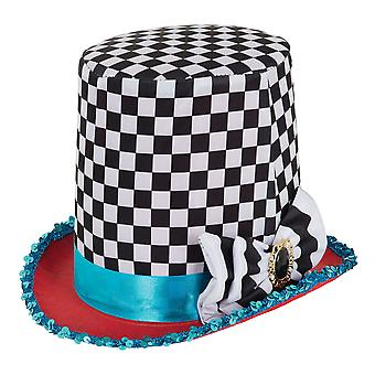 Stovepipe Mad Hatter Chequered Hat